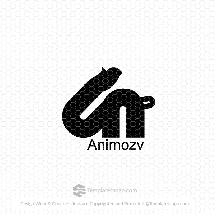 Abstract Text Based Logo