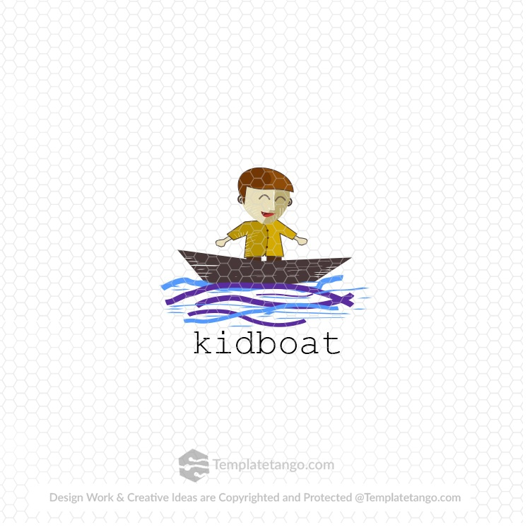 Ready Made Logo Kid Boat