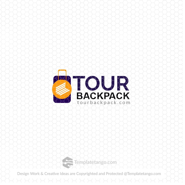 tourbackpack.com domain name with logo