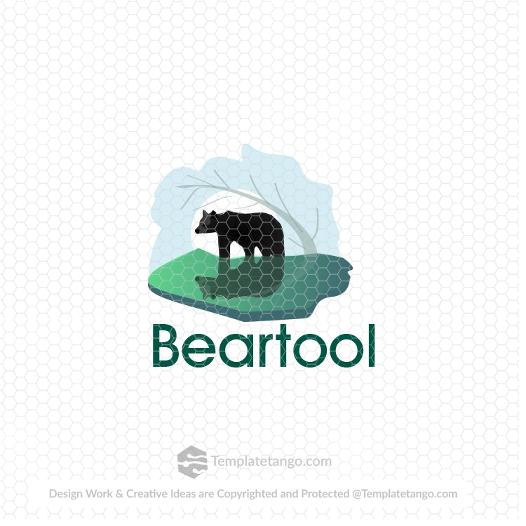 bear-jungle-logo-design-animal-pet-nature