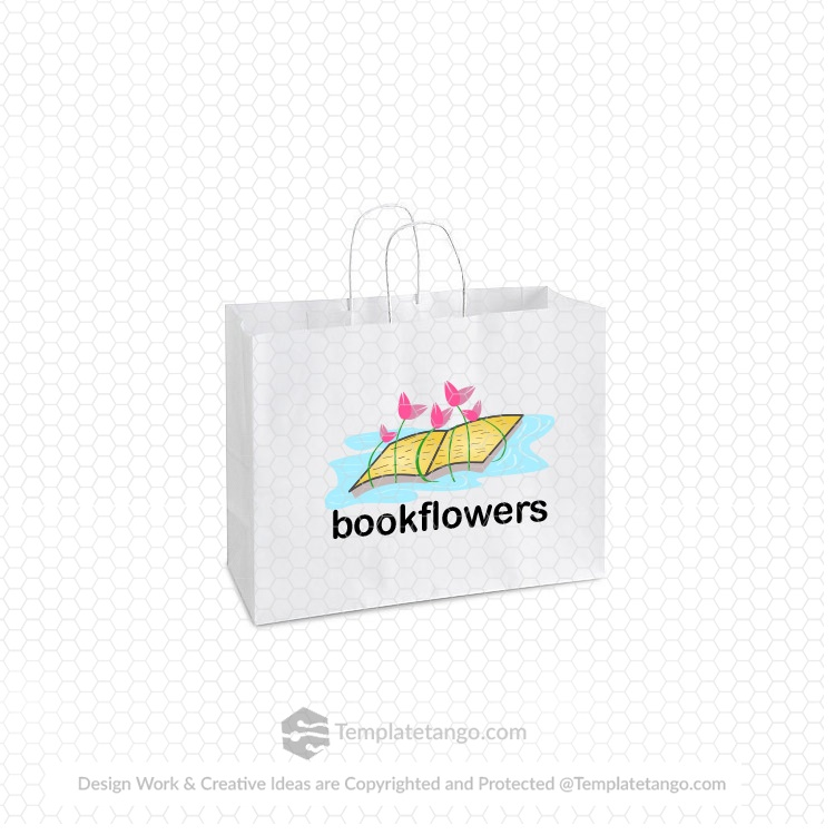 buy-book-flower-bag-logo-design
