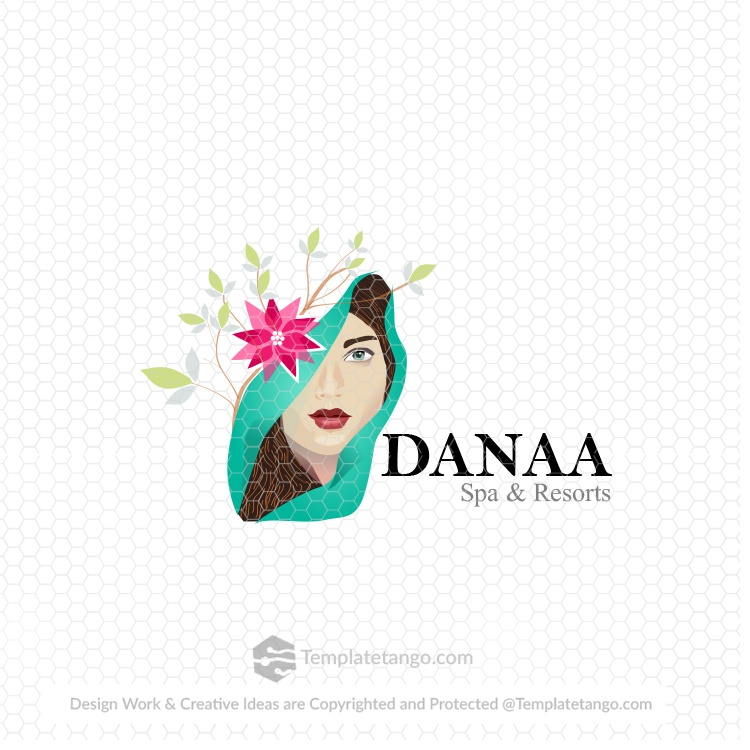 female-lady-spa-resort-logo-design