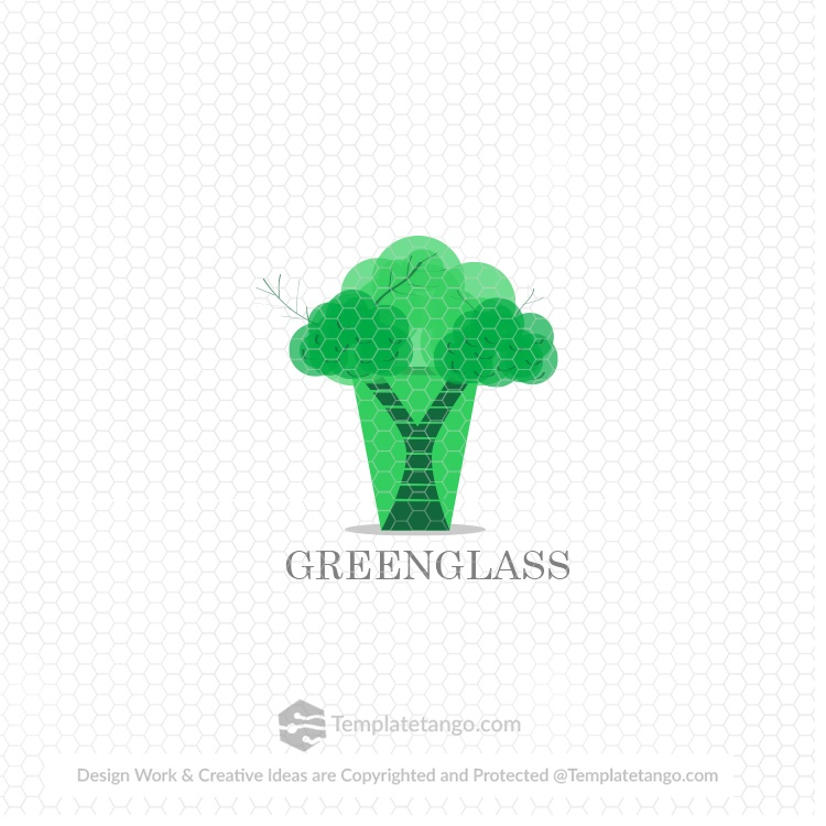green-glass-logo-design