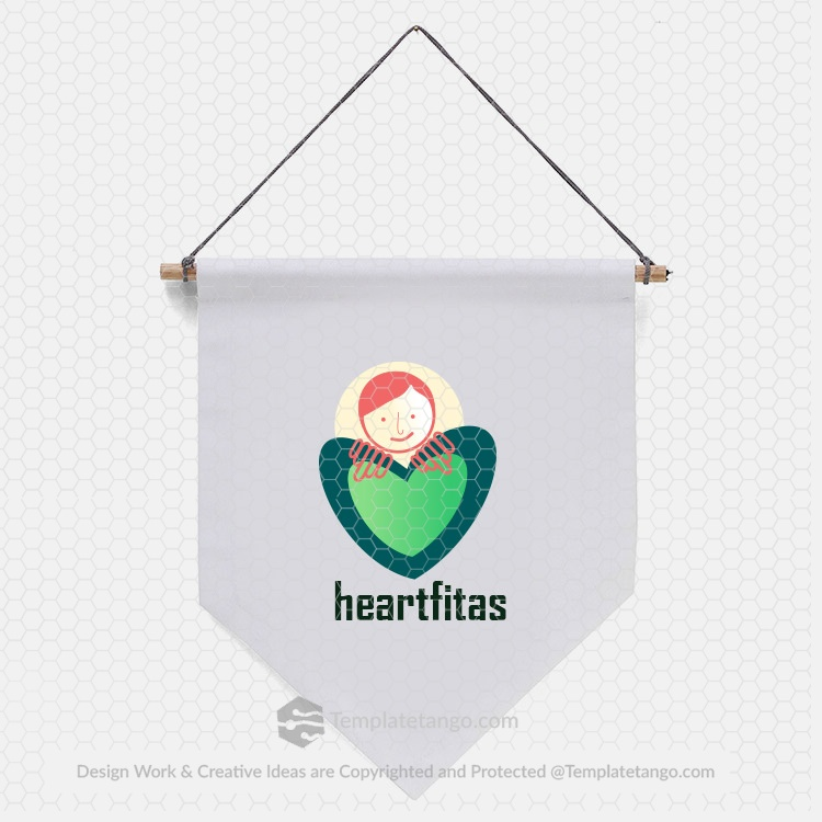 health-care-love-sign-logo-design