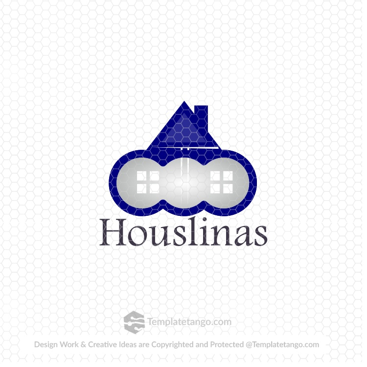 home-house-blue-logo-design